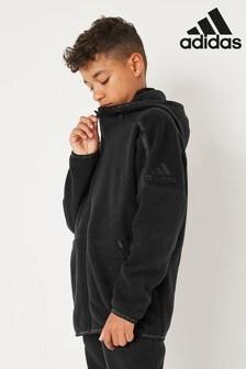 adidas Black Z.N.E Full Zip Hoodie