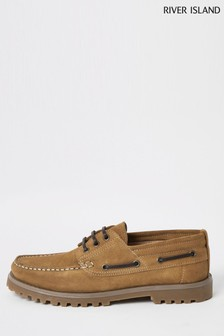 River Island Brown Chunky Boat Shoes