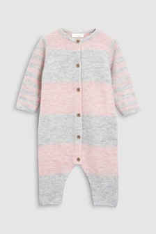 Colourblock Knitted Romper (0mths-2yrs)