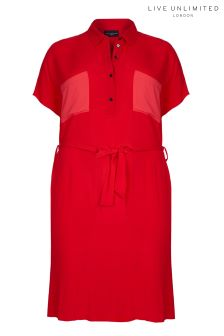 Live Unlimited Red Shirt Dress