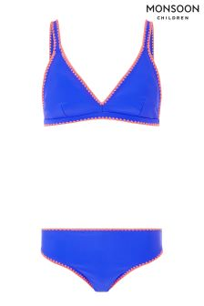 Monsoon Blue Blanket Stitch Bikini