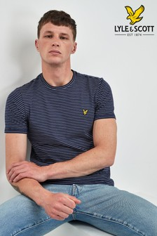 Lyle & Scott Navy Fine Stripe T-Shirt