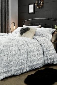 Faux Fur Duvet Cover And Pillowcase Set