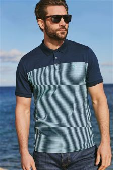 Stripe Colourblock Polo