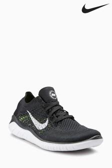 Nike Black/White Flyknit Free Run 2018