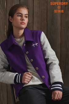 Superdry Limited Edition Dry Leather Varsity Jacket