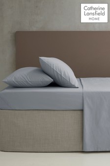 Catherine Lansfield Grey Percale Extra Deep Fitted Sheet