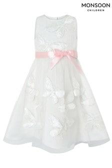 Monsoon Ivory Flutterbye Sparkle Dress