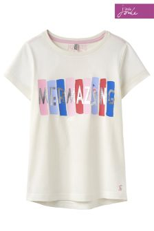 Joules Cream Astra Applique Jersey T-Shirt