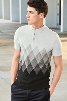 Diamond Knitted Polo