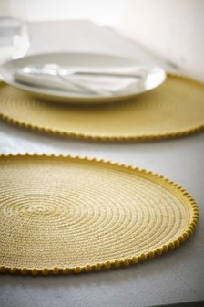 Set of 2 Pom Pom Placemats