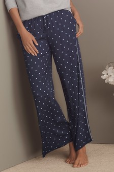 Wide Leg Ditsy Trousers