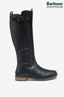 Barbour® Black Leather Rebecca Knee High Boots
