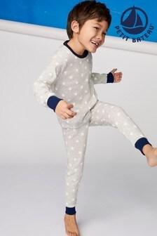 Petit Bateau Grey/White Star Pyjamas