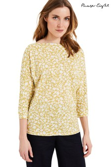 Phase Eight Yellow Florentine Print Top