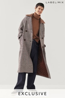 Mix/Isa Arfen Oversized Double Breasted Check Coat