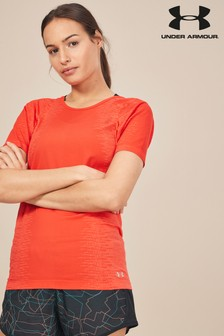 Under Armour Red Seamless Threadborne Tee