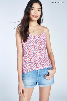 Jack Wills Lilac Galsford Printed Cami
