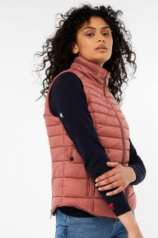 Monsoon Pink Rachel Quilted Gilet