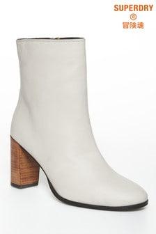 Superdry White High Heel Boot