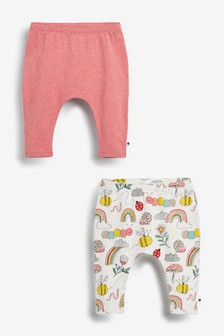 2 Pack Rainbow Leggings (0mths-2yrs)