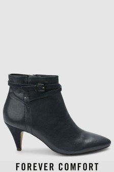 Forever Comfort Cone Heel Boots