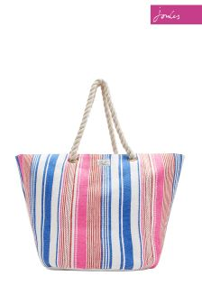 Joules Blue Stripe Summer Bag