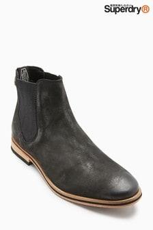 Черные ботинки челси Superdry Meteora