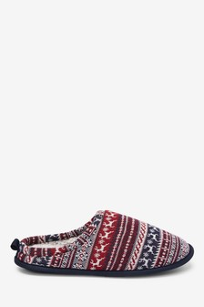 Fairisle Pattern Mules