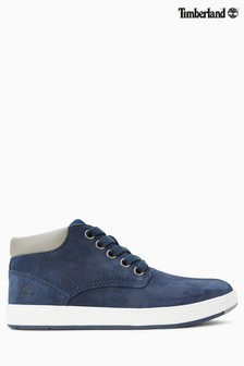Timberland® Navy Leather Davis Square Chukka Boot