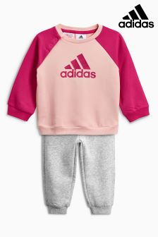 adidas Pink Logo Tracksuit