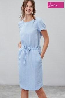 Joules Kiera Taillertes Kleid mit Flügelärmeln