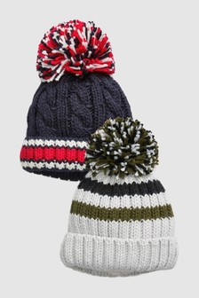 Bobble Beanies Two Pack (Younger)