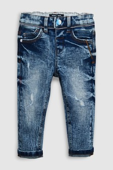 Distressed Five Pocket Jeans With Stretch (3mths-6yrs)