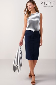 Pure Collection Chino Pencil Skirt