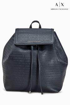 Armani Exchange Navy Womens Backpack
