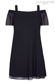 Live Unlimited Black Bardot Swing Dress