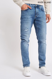 River Island Mid Blue Washed Slim Jean