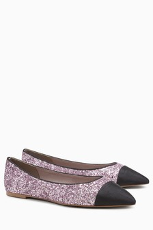 Point Toe Cap Ballerinas