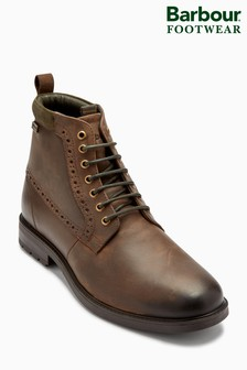 Barbour® Brown Hury Weather Resistant Derby Boot