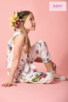 baker by Ted Baker Oasis All Over Print Top And Capri Set