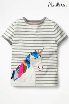 Boden Grey Sequin Colour Change T-Shirt