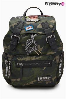 Superdry - 迷彩印花背包