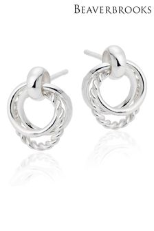 Beaverbrooks Circle Twist Drop Earrings