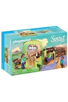 Playmobil® Dream Works Spirit 9479 Horse Box Pru & Chica Linda