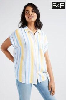 F&F Linen Stripe Shirt