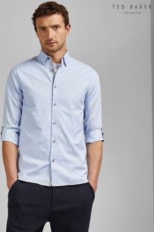Ted Baker Blue Long Sleeve Coupe Shirt