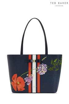 Ted Baker Blue Floral Shopper Bag
