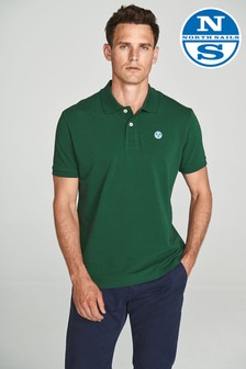 North Sails Green Short Sleeve Logo Polo