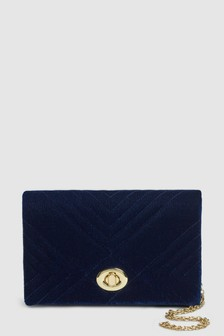 Quilted Velvet Clutch